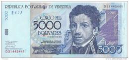 VENEZUELA - 5000 Bolivares 2004 UNC SérieD - Venezuela