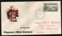 Papua New Guinea 1958 Klinki Plymill Headdress Art Mask Sc 142 FDC # 12958 - Autres