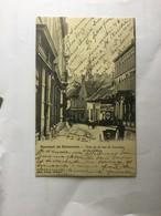 GERAARDSBERGEN 1901  SOUVENIR DE GRAMMONT  COIN DE LA RUE DE LESSINES ET DU COLLEGE - Geraardsbergen