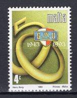 MALTA - 1993 The 50th Anniversary Of The General Workers Union  M448 - Malta