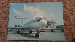 CPSM AVION INTERCONTINENTAL FAN JET ILYUSHIN 62 PHOTO J CZERNIAK FLY WITH US POLOGNE VARSOVIE AEROPORT - 1946-....: Era Moderna