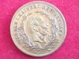 Medaille Messing Zur Erinnerung An Den 90. Geburtstag Kaiser Wilhelm 1887 - Royal/Of Nobility