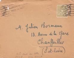 FRANCE. LETTRE. DEVANT. ARC DE TRIOMPHE 50c N° 623 SEUL SUR LETTRE - Marcofilia (sobres)