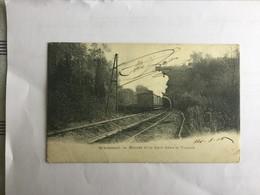 GERAARDSBERGEN  1905  GRAMMONT  ENTREE D' UN TRAIN DANS LE TUNNEL - Geraardsbergen