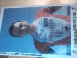 CYCLISME 2007   - CICLISMO :GRANDE CARTE STEPHANE BENETIERE TEAM LE CREUSOT - Cycling