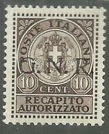 ITALIA REGNO ITALY 1944 SAGGI REPUBBLICA SOCIALE ITALIANA RSI RECAPITO AUTORIZZATO GNR NERO MNH SAGGIO PROVA CERTIFICATO - 4. 1944-45 Repubblica Sociale