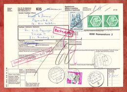 Paketbegleitadresse, MiF Marcus U.a., Wetzikon Ueber Romanshorn + Friedrichshafen Nach Hamburg 1976 (60514) - Switzerland