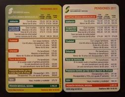 2010 - 2011. 2 CALENDARIOS SEGURIDAD SOCIAL - PENSIONES. - Tamaño Pequeño : 2001-...
