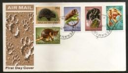 Papua New Guinea 1971 Wildlife Animals Fauna Squirrel Rodent 5v FDC # 12787 - Knaagdieren