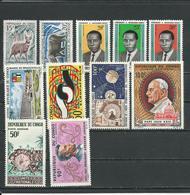 CONGO Scott 123-4, 126-8, C25, C26, C27, C28, C33, C35 Yvert 162-3 172-4, PA27-28-29-30-37 (11) ** Cote 10,75 $ 1964 - Congo - Brazzaville