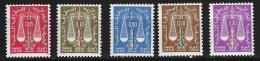 """Algerie Taxe YT 59 à 63 """" Balance """" 1963 Neuf** - Algérie (1962-...)"""