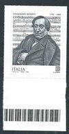 Italia 2018; Gioachino Rossini, Compositore Di Opere, Musica Sacra E Da Camera, Pezzi Da Pianoforte. Bordo Inferiore. - 2011-...: Mint/hinged