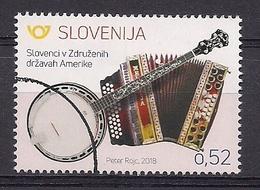 ESLOVENIA 2018 - ESLOVENOS EN U.S.A. - SELLO NUEVO TIMBRADO DE FAVOR (VALOR FACIAL) - Slovénie