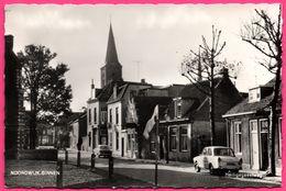 Cp Dentelée - Noordwijk Binnen - Heiligegeestweg - Vieille Voiture - Eglise - Animée - Foto ROOS - ECHTE FOTO  N° 16908 - Noordwijk (aan Zee)