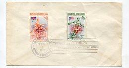 SOBRE MATASELLO AYUDA REFUGIADOS HUNGAROS 1957 CIUDAD TRUJILLO REPUBLICA DOMINICANA  FDC -LILHU - Dominicaanse Republiek