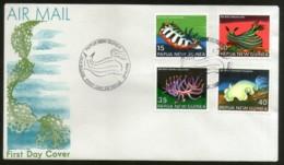 Papua New Guinea 1978 Sea Slugs Marinelife Coarls 4v FDC # 13432 - Marine Life