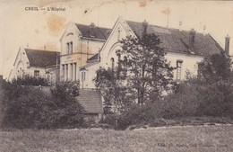 60  CREIL. GUERRE 14-18 .BLESSE A L'HÔPITAL. TEXTE ANNEE 1915 - Weltkrieg 1914-18