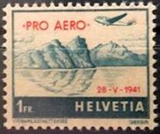 Schweiz Suisse 1941: PRO AERO Mit Aufdruck 28.V.1941: Zu 35 Mi 395 Yv PA34a ** MNH (Zu CHF 14.00) - Airmail