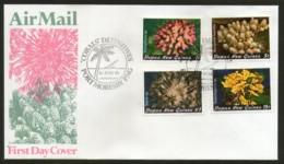 Papua New Guinea 1982 Coarls Marinelife Sea Shell Sc 566-694v FDC # 12775 - Marine Life