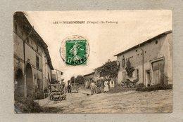 CPA - VILLONCOURT (88) - Aspect Du Quartier Le Faubourg En 1911 - Autres Communes