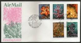 Papua New Guinea 1983 Coarls Marinelife Sea Shell Sc 575-79 5v FDC # 12638 - Maritiem Leven