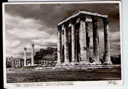U3752 Postcard 1957 Athenes, Acropole Vue De L' Olympieion + NICE STAMP (bollo Commemorativo) GREECE GRECIA - Grecia
