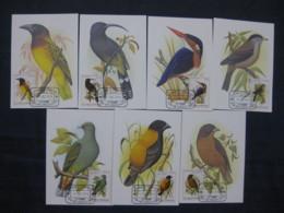 St. Thomas & Prince Is. 1979 Birds Fauna Wildlife Sc 541-7 Max Cards Set Of 7 # 8074 - Birds