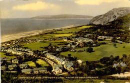 GWYNEDD - ST GWYNANT AND DWYGYFYLCHI FROM PENMAENMAWR Gwy610 - Caernarvonshire