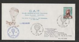 Italia - 1 5 1980 Club Aerostatico Italiano  Mantova Volo In Pallone Pegognaga-Landungsort Pilot Fred Dolder - Montgolfier