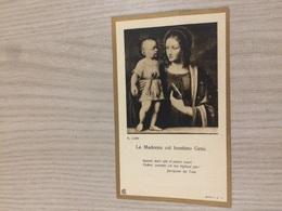 Santino La Madonna Col Bambino Gesu' - Images Religieuses