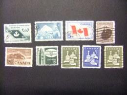 CANADA 1965 TIMBRES Sellos Yvert 361-68 FU - 1952-.... Règne D'Elizabeth II