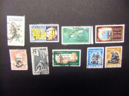 CANADA 1968 TIMBRES Sellos Yvert 399 - 02 + 406 - 10 FU - 1952-.... Règne D'Elizabeth II