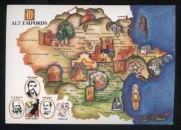 *Alt Empordà* Congrés Cultura Catalana 1977. Campanya Identificació Del Territori. Nueva. - Mapas