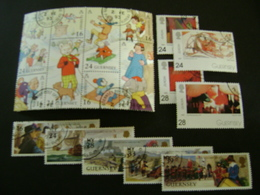 Guernsey 1993-1994 Commemorative/special Issues (SG 606-615, 617-643, 645-649, 651-662) 3 Images - Used - Guernsey