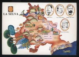 *La Selva* Congrés Cultura Catalana 1977. Campanya Identificació Del Territori. Nueva. - Mapas