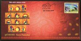 India 2018 Surya Namaskar Yoga Fitness Health Special Cover # 6885 - Other