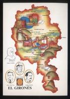 *El Gironès* Congrés Cultura Catalana 1977. Campanya Identificació Del Territori. Nueva. - Mapas