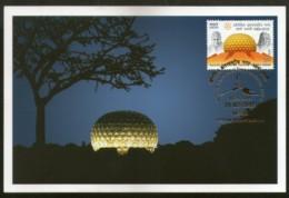 India 2018 Auroville Int'al Township Mother Pondicherry Aurobindo Max Card  # 8266 - Religions