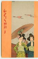 N°11321 - Carte Illustrateur - Raphael Kirchner - Geisha X - Kirchner, Raphael