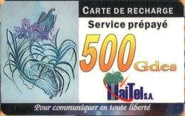 Haiti - HT-HTL-0003B, Carte De Recharge, Remote Memory, Orchids, Flowers, 500 G, Exp.D. 31/3/01, Used - Haiti