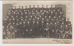 Militaria Carte-photo Du 62ème Régiment D'infanterie 1ère Compagnie Le Palais (Belle Ile) Avril 1911 - Régiments