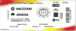 Match Tickets - Football Mach Macedonia Vs Armenia 2018 - Tickets D'entrée