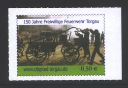 Deutschland KV Torgau '150 J. Freiw. Feuerwehr Torgau' / Germany '150th Ann. Of Torgau Fire Department' **/MNH 2014 - Firemen