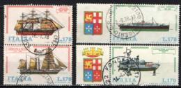 ITALIA - 1977 - NAVI: PIROSCAFO FERDINANDO I - SATURNIA - CORVETTA CARACCIOLO - CANNONIERA ALISCAFO SPARVIERO - USATI - 1971-80: Oblitérés