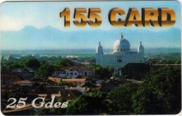 Haiti - HAI PA2, 155Card, View With Cathedrale, 25Gdes, Churches, City Views, Exp.D. 5/01, Used - Haïti