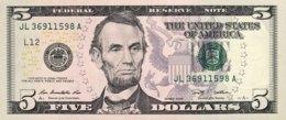 USA 5 Dollars, P-531 (2009) - L/San Francisco Issue - UNC - Billets De La Federal Reserve (1928-...)