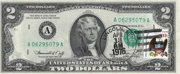 UNITED STATES 2 DOLLARS 1976 P-461A UNC A - BOSTON, DAY ISSUE STAMP [US461] - Federal Reserve Notes (1928-...)