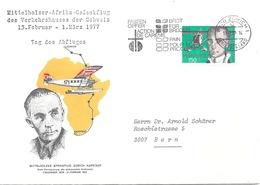 """Sonderbrief  """"Mittelholzer Afrika Gedenkflug""""             1977 - Switzerland"""