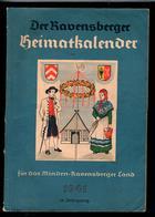 """Militaria 2. Weltkrieg Buch Von 1941 """"Der Ravensburger Heimatkalender 1941"""" - Deutsch"""