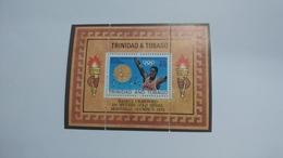 Trinidad & Tobago-hasely Crawford 100 Metres Gold Medal-(block 1 Stamp)-mint - Trinité & Tobago (1962-...)